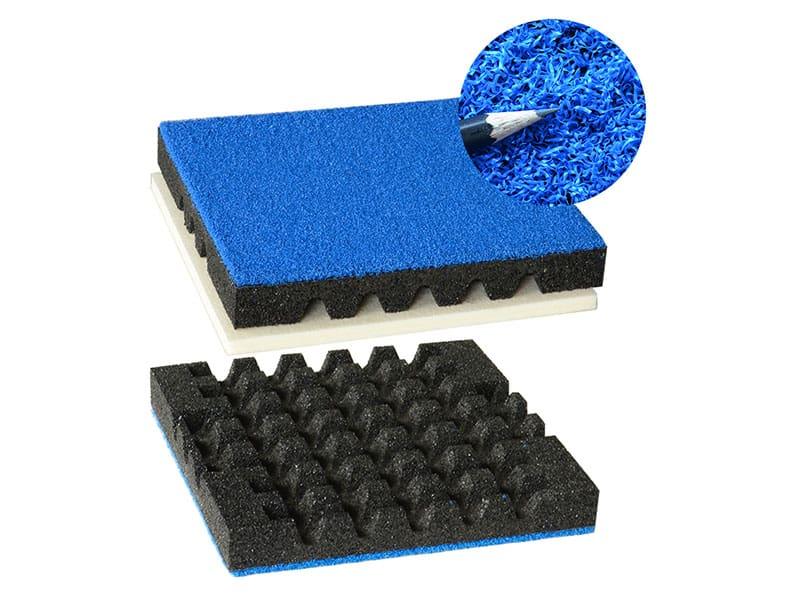 Fallschutzmatte mit Kunstgras
